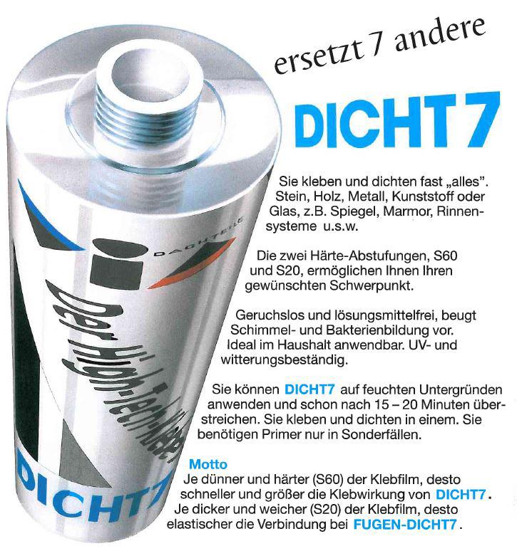 VIA-DICHT7 S60 310 ml/Kart, schwarz